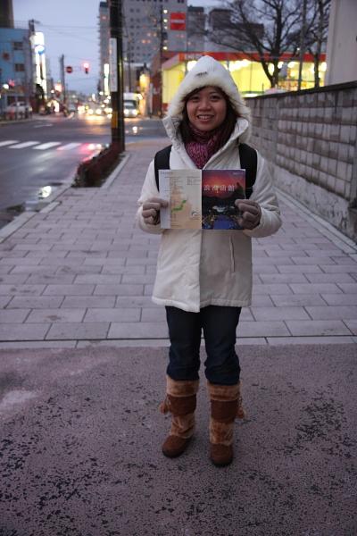 函館街上~冷喔  ~_+